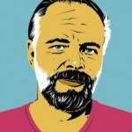 Philip K. Dick drawing Pete Welsch - Genoa Palazzo Ducale Domus Patrizia